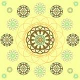 Round ornamentacyjny geometryczny wzór Zdjęcie Stock