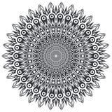 Round Ornamentacyjny projekta element Obrazy Stock