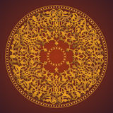 Round ornamental. Skilful weaving, vector Royalty Free Illustration