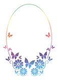 Round ornamental frame with butterfly Stock Photography