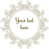 Round ornamental frame Royalty Free Stock Images