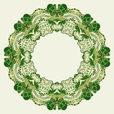 Round ornamental frame. Vector illustration Royalty Free Stock Photo
