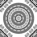 Round Ornamental Geometric Doily Pattern Royalty Free Stock Photography