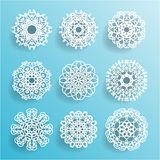Round Ornamental Geometric Doily Pattern, Royalty Free Stock Image