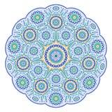 Round ornamental geometric pattern. Mandala-like round ornamental geometric pattern Royalty Free Stock Photos