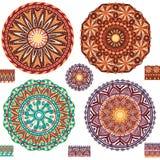 Round ornamental geometric Patterns. Set of Round ornamental geometric Patterns Royalty Free Stock Photography