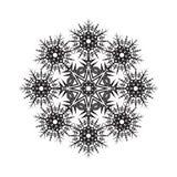 Round ornamental vector shape, black pattern of Stock Image