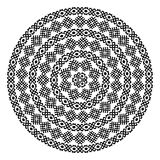 Round ornamental vector shape isolated on white. Monochromatic ethnic seamless textures. Round ornamental vector shape isolated on white. oriental arabesque Stock Images