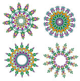 Round ornaments mandala Royalty Free Stock Photo