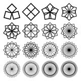 Round ornaments set. Abstract creative flowers Stock Image
