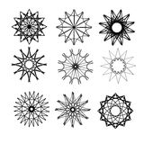 Round ornaments set Royalty Free Stock Photos