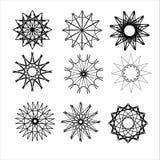 Round ornamenty ustawiający Zdjęcia Royalty Free