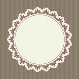 Round ornate frame Stock Image