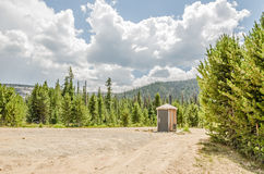 Round Outhouse Royalty Free Stock Images