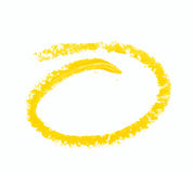 Round oval paint stroke isolated Stock Photography
