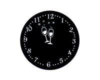 Round pad for new years eve glasses and cups Stock Photos