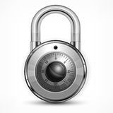 Round padlock on white Royalty Free Stock Images