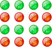 round pain pins set Royalty Free Stock Photography