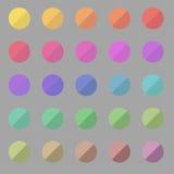 round paleta Obrazy Royalty Free