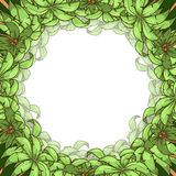 Round palm frame vector illustration Stock Images