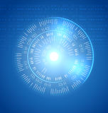 Round panel future interface, techno background Royalty Free Stock Photography