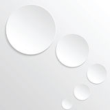 Round paper banners. Illustration Stock Photography