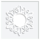 Round paper frame Royalty Free Stock Image