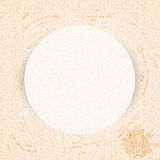 Round paper frame on curly pastel pattern stained Stock Photos