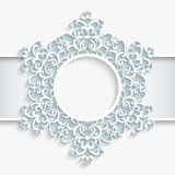 Round paper frame Royalty Free Stock Photo