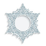 Round paper lace frame Stock Images