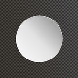 Round paper plate on transparent background. Vector illustration Royalty Free Stock Images