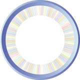 Round pastell frame Royalty Free Stock Image