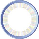 Round pastell frame Royalty Free Stock Image