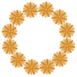 Round pattern from brown flowers Royalty Free Stock Photo