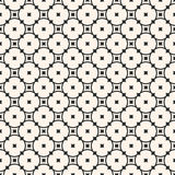 Round pattern, circular pattern with rounded lattice, circles. Vector monochrome seamless pattern. Simple elegant geometric texture with rounded lattice, circles Stock Photo