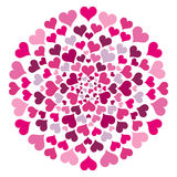 Round Pattern With Hearts Royalty Free Stock Image