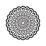 Round pattern in oriental style Stock Photos