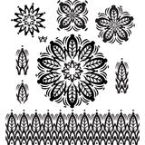 Round  Pattern with pattern brush Royalty Free Stock Photography