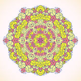 Round pattern, pink and yellow. On a light background Royalty Free Stock Photography
