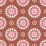Round pattern. Seamless pattern with big and small decorate circles Royalty Free Stock Photo