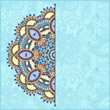 Round pattern in ukrainian oriental ethnic style Royalty Free Stock Photography