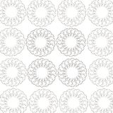 Round pattern from a white background royalty free illustration