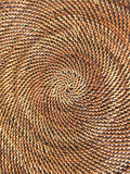 Round pattern, Woven Basket stock photo