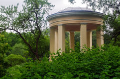 Round pavillon in Park Ekateringof, St. Petersburg surrounded by Royalty Free Stock Images