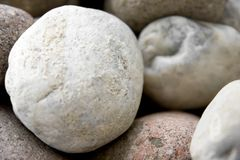 Round pebbles Royalty Free Stock Photography