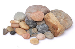 Round pebbles Royalty Free Stock Photos