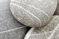 Round peeble stones Stock Images