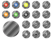 Round perforated buttons,  Stock Photo