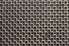Round perforated metal plate texture Stock Image