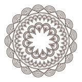 round petali like decorative line mandala icon Royalty Free Stock Images
